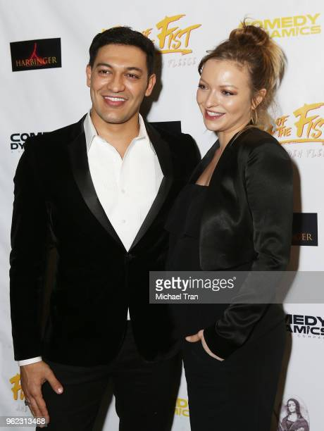 Alexander Wraith and Francesca Eastwood attend the Los Angeles premiere of Comedy Dynamics' The Fury Of The Fist And The Golden Fleece held at...