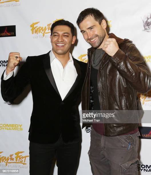 Alexander Wraith and Sean Stone attend the Los Angeles premiere of Comedy Dynamics' The Fury Of The Fist And The Golden Fleece held at Laemmle's...