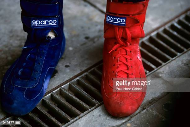 Alexander Wurz, Grand Prix of Great Britain, Silverstone Circuit, 12 July 1998. Alexander Wurz was famous for wearing race shoes of two different...