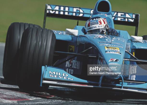 Alexander Wurz of Austria drives the Mild Seven Benetton Playlife Benetton B200 Playlife FB02 V10 during the Formula One Canadian Grand Prix on 18...