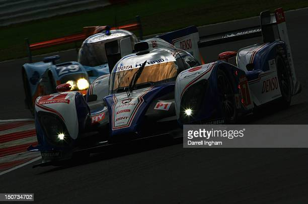 Alexander Wurz of Austria drives the Toyota Racing Toyota TS030 Hybrid during practice for the FIA World Endurance Championship 6 Hours of...