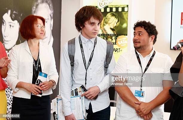 Alexander Yaropolski and Konstantin MalkinFam attend the Roskino Pavilion opening during the 67th Annual Cannes Film Festival on May 15 2014 in...