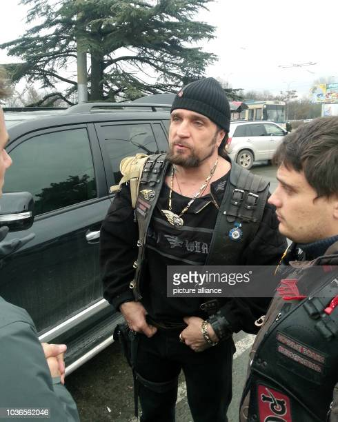 Alexander Zaldostanov Nickname 'Surgeon' the head of the Russian motorcycle club 'Night Wolves' which is said to have good contacts with Russian...