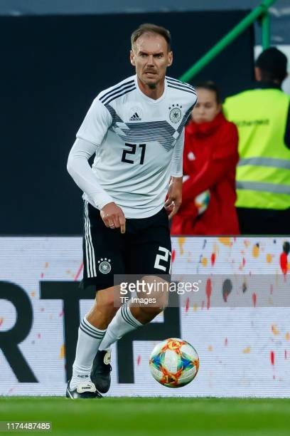 Alexander Zickler of Germany controls the ball during the friendly match between DFBAllStars and Azzurri Legends at Sportpark Ronhof Thomas Sommer on...