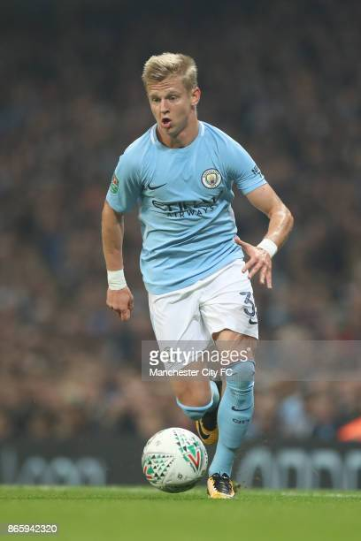 Alexander Zinchenko of Manchester City in action during the Carabao Cup Fourth Round match between Manchester City and Wolverhampton Wanderers at...