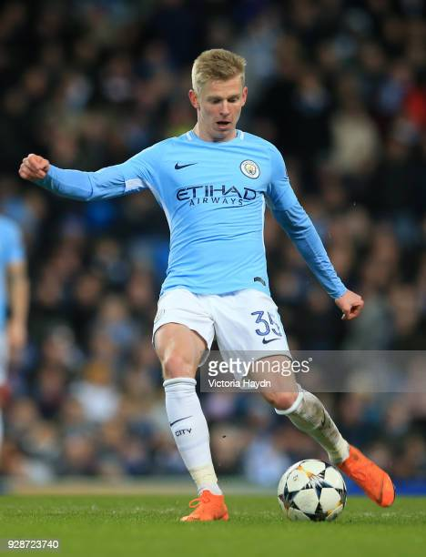 Alexander Zinchenko of Manchester City in action during the UEFA Champions League Round of 16 Second Leg match between Manchester City and FC Basel...