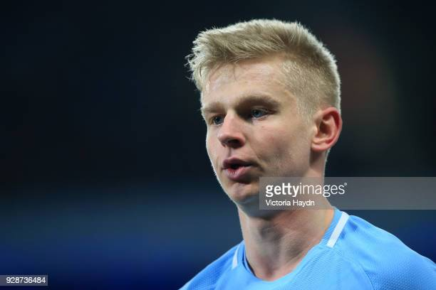 Alexander Zinchenko of Manchester City looks on during the UEFA Champions League Round of 16 Second Leg match between Manchester City and FC Basel at...