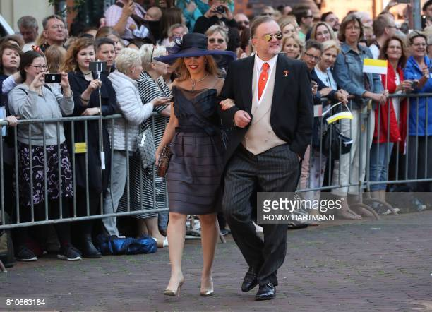Alexander zu SchaumburgLippe and his partner Mahkameh Navabi arrive for the church wedding of Prince Ernst August of Hanover and Ekaterina of Hanover...