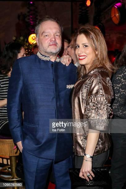 Alexander zu Schaumburg-Lippe and his partner Mahkameh Navabi during the Bulgari party with the motto #Starsinbulgari on February 7, 2019 in Berlin,...