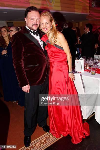 Alexander zu SchaumburgLippe and his wife Nadja zu SchaumburgLippe attend the German Film Ball 2015 on January 17 2015 in Munich Germany
