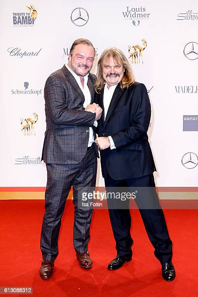 Alexander zu SchaumburgLippe and musician Leslie Mandoki attend the Tribute To Bambi at Station on October 6 2016 in Berlin Germany