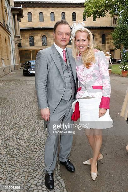 Alexander zu SchaumburgLippe and Nadja Anna zu SchaumburgLippe attend the Church Wedding of Florian Langenscheidt and Miriam Langenscheidt at...