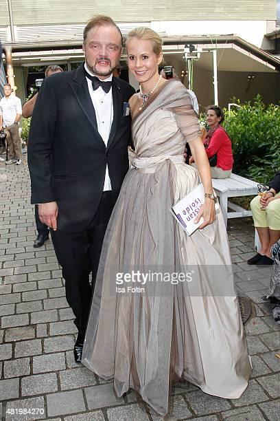 Alexander zu SchaumburgLippe and Nadja Anna zu SchaumburgLippe attend the Bayreuth Festival 2015 Opening on July 25 2015 in Bayreuth Germany
