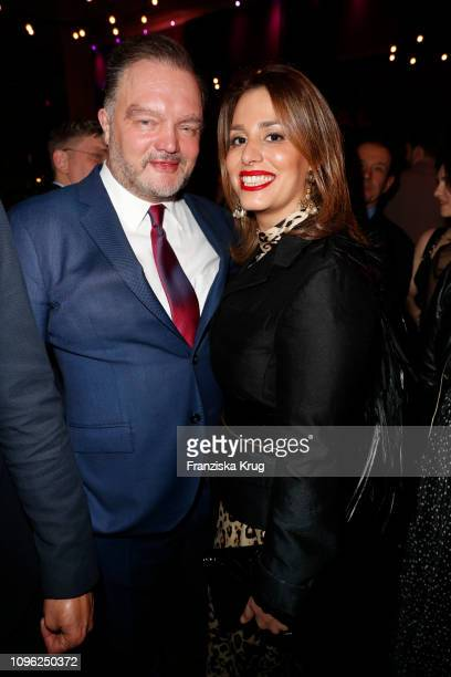 Alexander zur SchaumburgLippe and Mahkameh Navabi during the BUNTE BMW Festival Night at Restaurant Gendarmerie on February 8 2019 in Berlin Germany