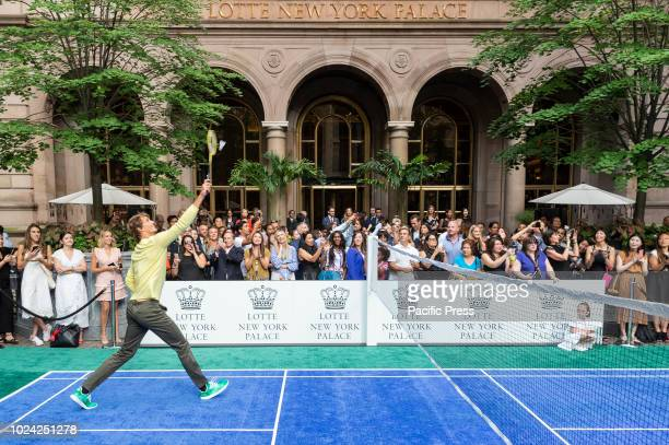 Alexander Zverev and Mischa Zverev attend Invitational Badminton Tournament at Lotte New York Palace