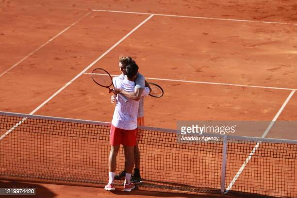Alexander Zverev and Novak Djokovic compete in last day of Serbian leg of Adria Tour a charity exhibition hosted by Novak Djokovic Foundation Serbia...