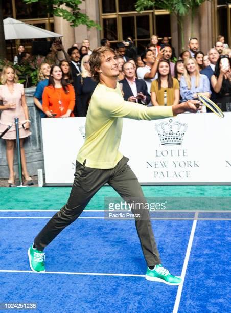 Alexander Zverev attend Invitational Badminton Tournament at Lotte New York Palace