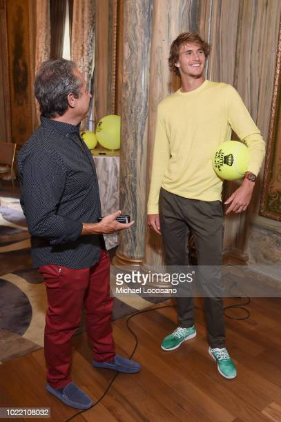 Alexander Zverev attends 2018 Lotte New York Palace Invitational on August 23 2018 in New York City