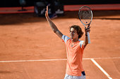 alexander zverev ger celebrates victory against
