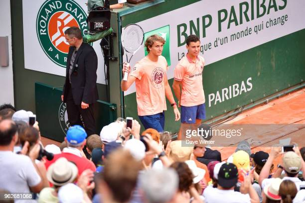 Alexander Zverev during the Charity Children's Day at the French Open 2018 on May 26 2018 in Paris France