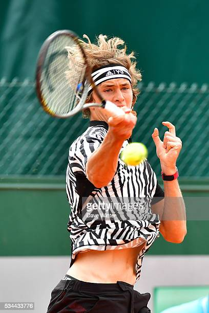 Alexander Zverev during the Men's Singles second round on day five of the French Open 2016 at Roland Garros on May 26 2016 in Paris France