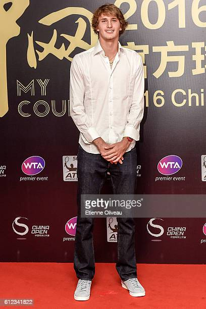 Alexander Zverev of Germany arrives at the 2016 China Open Player Party at The Birds Nest on October 3 2016 in Beijing China