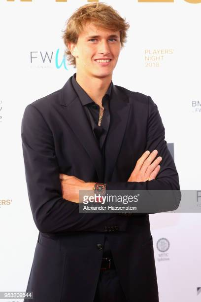 Alexander Zverev of Germany arrives at the Players Night 2018 on day 3 of the BMW Open by FWU at MTTC IPHITOS on April 30 2018 in Munich Germany