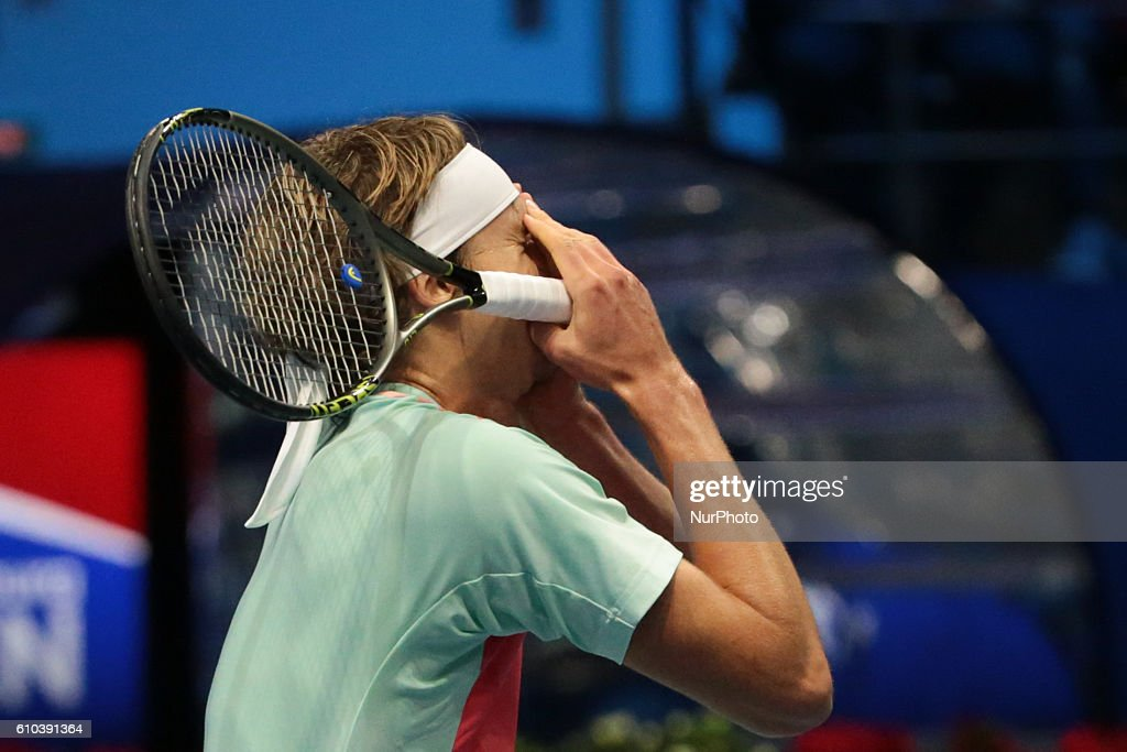 Alexander Zverev of Germany celebrates his victory over Stan Wawrinka of Switzerland in the St. Petersburg Open ATP tennis tournament final match in St. Petersburg, Russia, September 25, 2016.