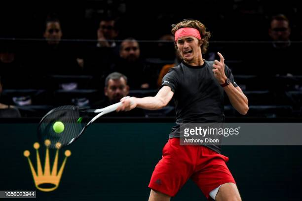 Alexander Zverev of Germany during Day 4 of the Rolex Paris Masters on November 1 2018 in Paris France
