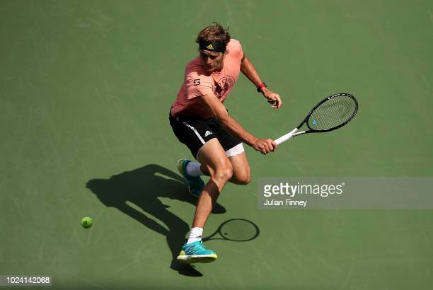 Alexander Zverev of Germany during previews for the US Open at USTA Billie Jean King National Tennis Center on August 26 2018 in the Flushig...