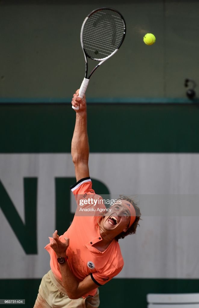 French Open tennis tournament 2018 - Day 4 : News Photo