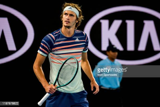 Alexander Zverev of Germany in action during the semifinals of the 2020 Australian Open on January 31 2020 at Melbourne Park in Melbourne Australia
