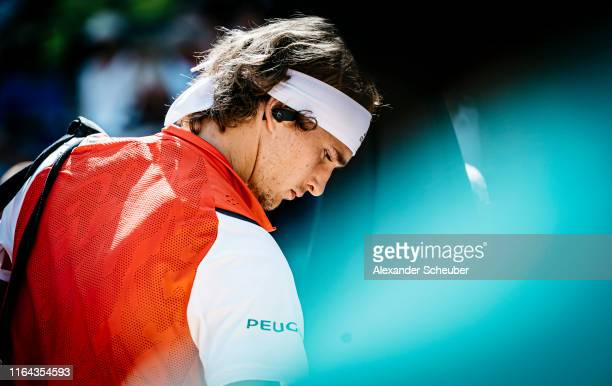 Alexander Zverev of Germany is seen prior his quarter final match during the Hamburg Open 2019 at Rothenbaum on July 26 2019 in Hamburg Germany