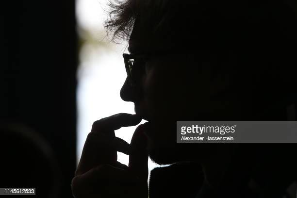 Alexander Zverev of Germany looks on during a media conference at Rilano Hotel during day 2 of the BMW Open at MTTC IPHITOS on April 28 2019 in...