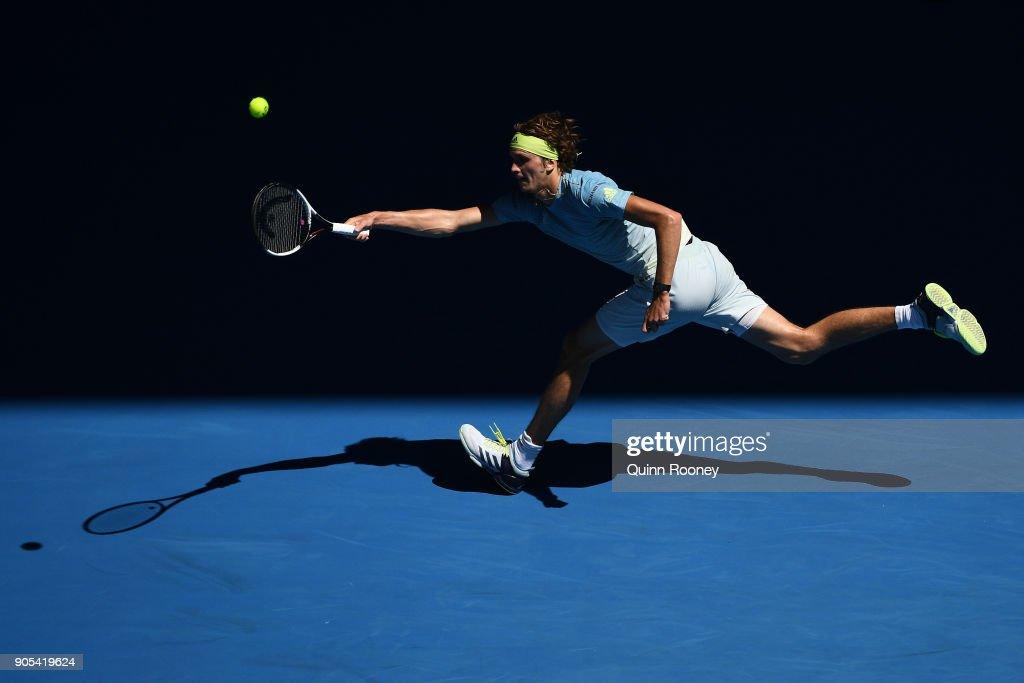 2018 Australian Open - Day 2 : Nachrichtenfoto