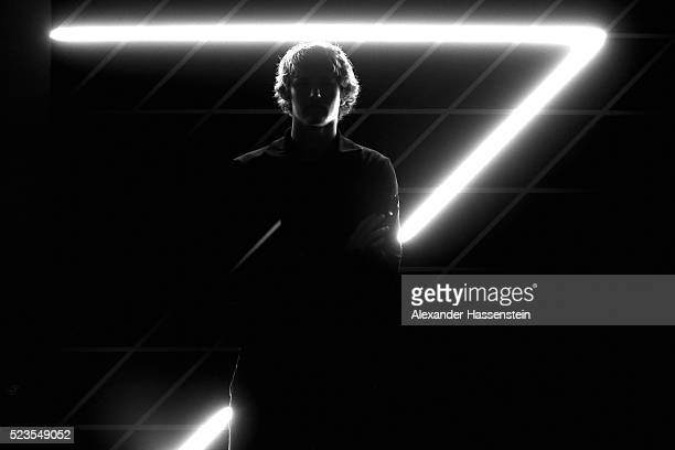 Alexander Zverev of Germany poses for a portrait at the ProAm Gala Dinner of the BMW Open at Iphitos tennis club on April 23, 2016 in Munich, Germany.