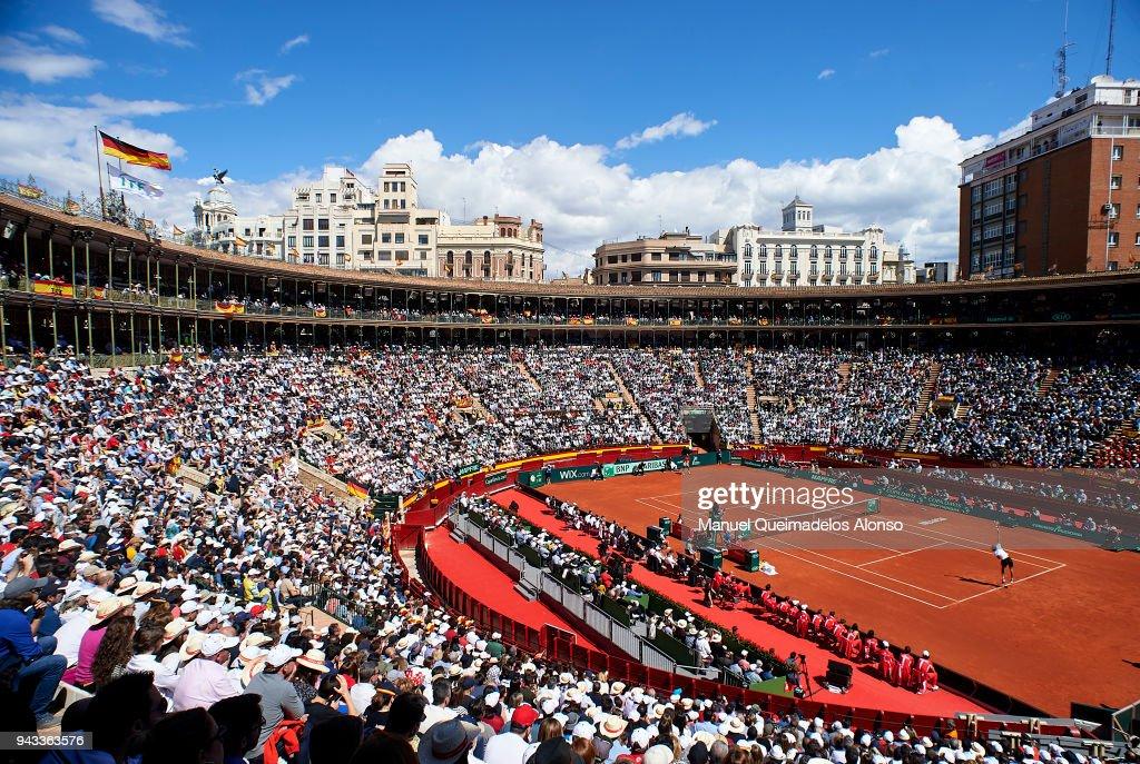 Spain v Germany - Davis Cup by BNP Paribas World Group Quarter Final : Nachrichtenfoto