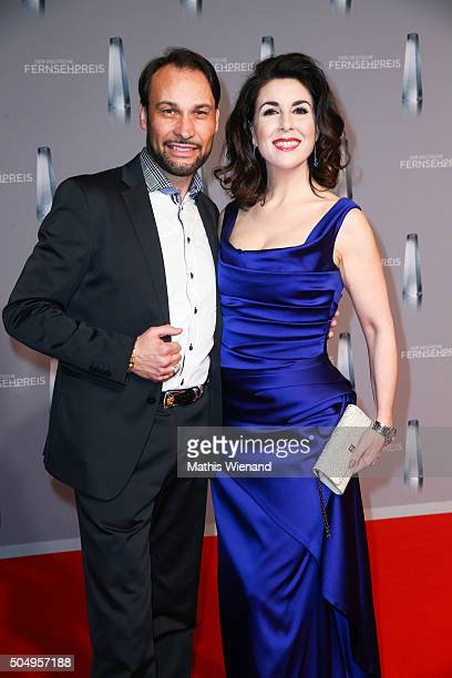 AlexanderKlaus Stecher and his wife Judith Williams attend the German Television Award at Rheinterrasse on January 13 2016 in Duesseldorf Germany