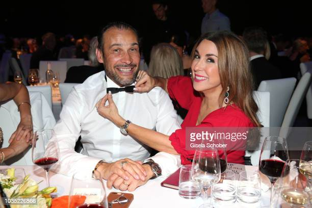 AlexanderKlaus Stecher and his wife Judith Williams during the traditional Buehnendinner 2018 at Bayerische Staatsoper on September 17 2018 in Munich...