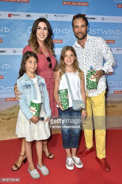 AlexanderKlaus Stecher and his wife Judith Williams with their children Sophie and Angelina during the 'Ostwind Aufbruch nach Ora' premiere in Munich...