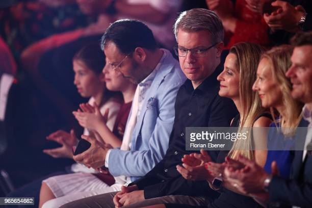 AlexanderKlaus Stecher Frank Thelen and Nathalie ThelenSattler during the semi finals of the 11th season of the television competition 'Let's Dance'...