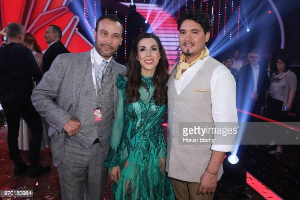 AlexanderKlaus Stecher Judith Williams and Erich Klann during the finals of the 11th season of the television competition 'Let's Dance' on June 8...