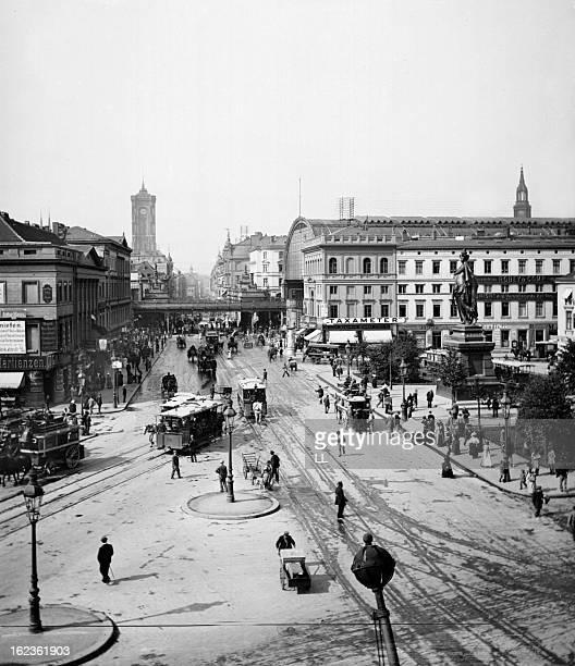 Alexanderplatz Berlin circa 1890 Detail of a stereoscopic view