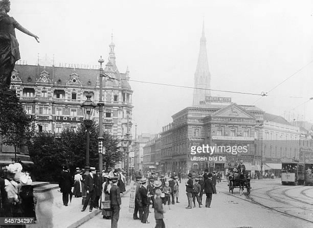 BERLIN ALEXANDERPLATZ Alexanderplatz Berlin Germany and the Grand Hotel Alexanderplatz Photographed 1904