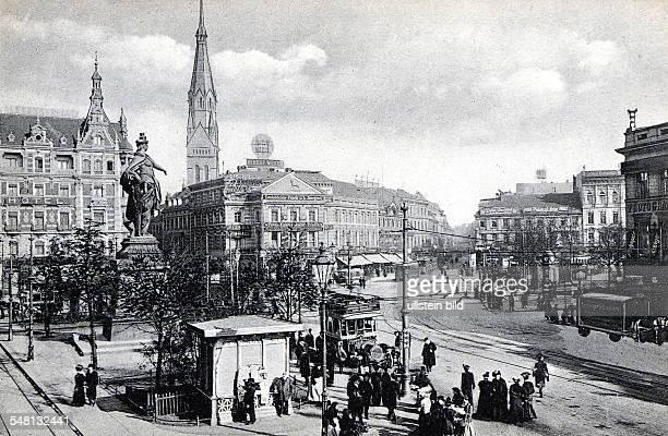 ALEXANDERPLATZ Alexanderplatz Berlin Germany c1900 with the Grand Hotel Alexanderplatz at left