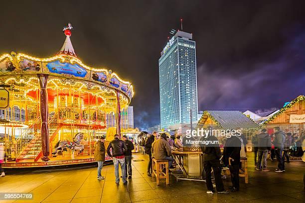 Alexanderplatz Christmas Market and a roundabout