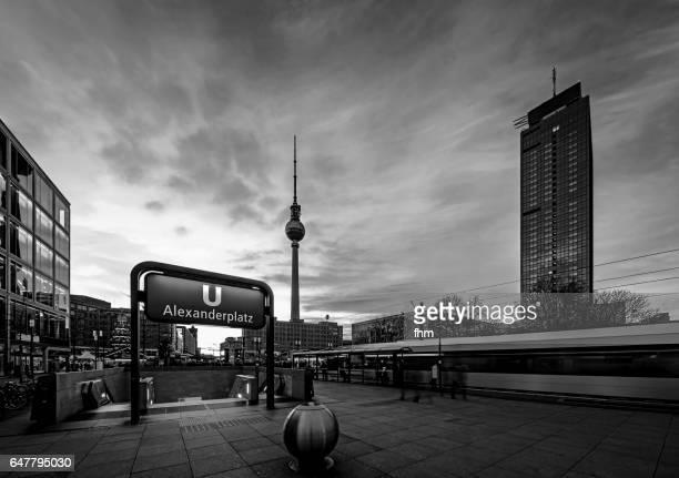 Alexanderplatz in black-white (Berlin, Germany)
