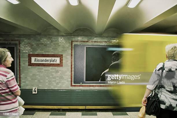 Alexanderplatz U-Bahn Station Scene