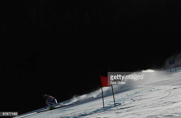 Alexandr Alyabyev of Russia competes in the Men's Standing SuperG during Day 8 of the 2010 Vancouver Winter Paralympics at Whistler Creekside on...
