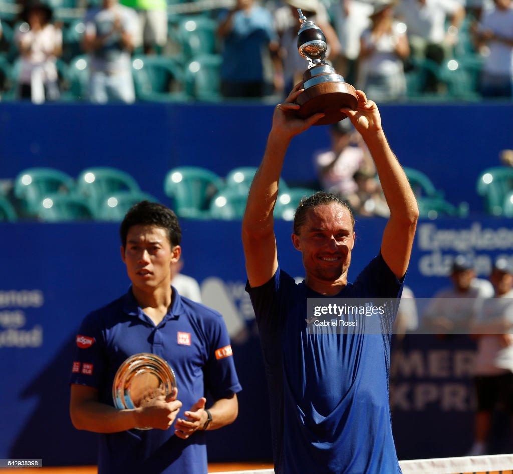 Kei Nishikori v Alexandr Dolgopolov - ATP Argentina Open : ニュース写真